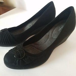 Dexflex comfort Wedges shoes 10 black